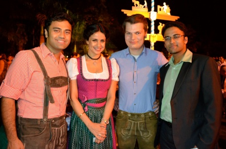 Vikanshu (co-founder), Gul Panag (actress), Christian (CEO) and Aayush (team member)